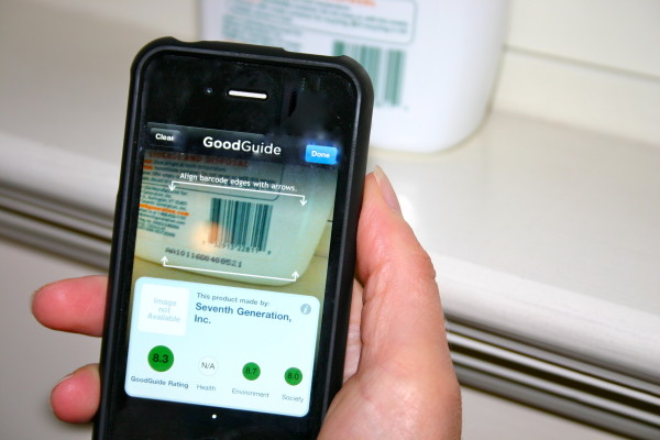 GoodGuide iPhone app for finding toxins in cleaning products and cosmetics