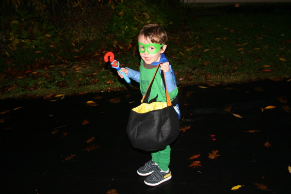 DIY Homemade Green natural Super Why costume Halloween