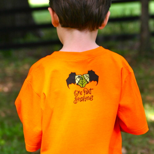 The Scariest Organic Cotton Halloween T-Shirt Ever Kids Children_One Part Sunshine_back_close