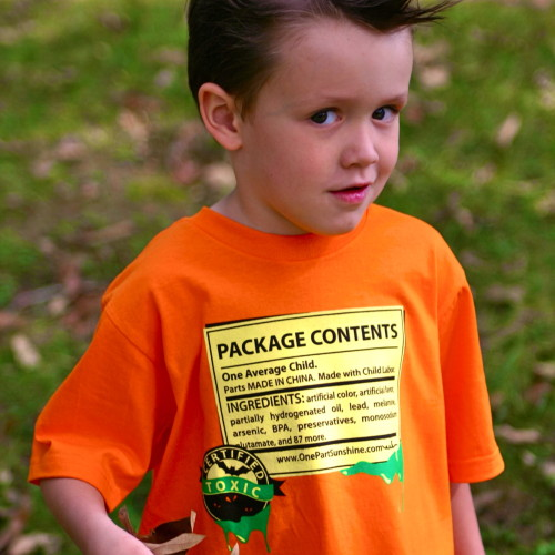 The Scariest Organic Cotton Halloween T-Shirt Ever Kids Children_One Part Sunshine_front2_close