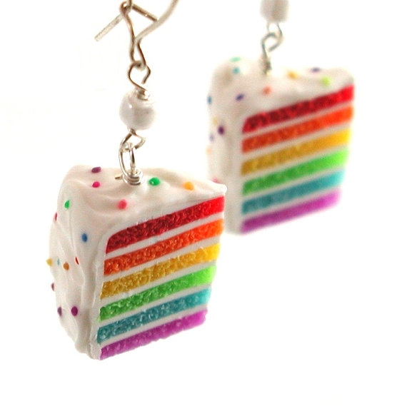 cake earrings from local company inedible jewelry
