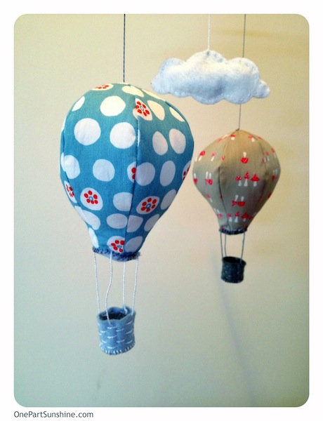 hot air balloon mobile craft close up
