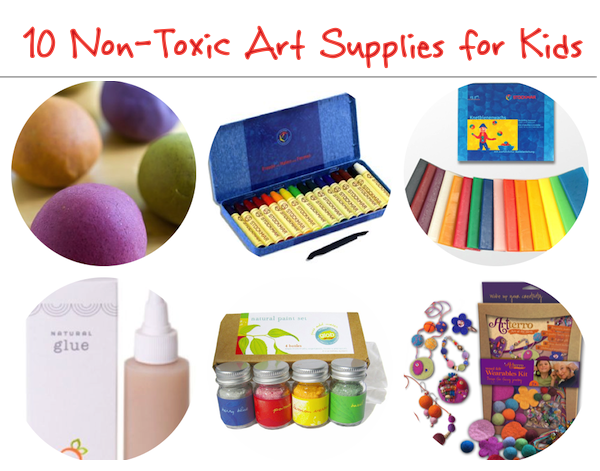 10 Eco-Friendly Non-Toxic Art Supplies for Kids | OnePartSunshine.com