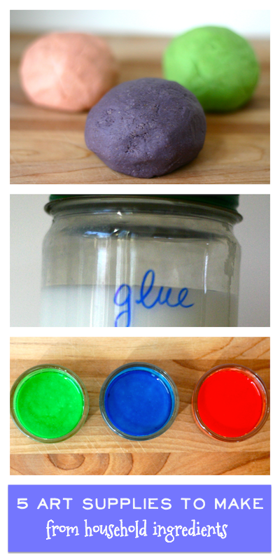 How to Make Art Supplies from Household Ingredients | OnePartSunshine.com