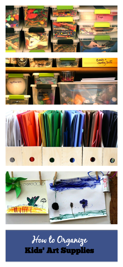 How to Organize Kids Art Supplies