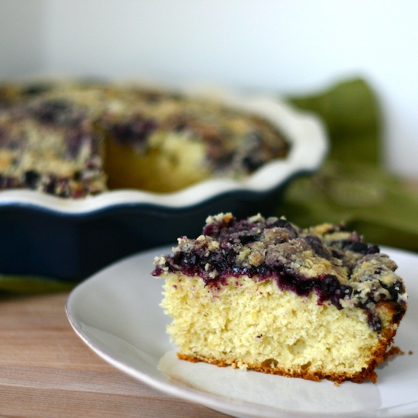 One Part Sunshine Lemon Cardamom Blueberry Buckle