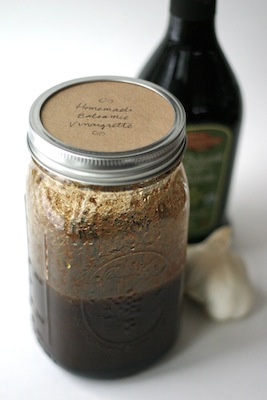 Recipe for Homemade Balsamic Salad Dressing - Make Your Own Pantry Staples | OnePartSunshine.com