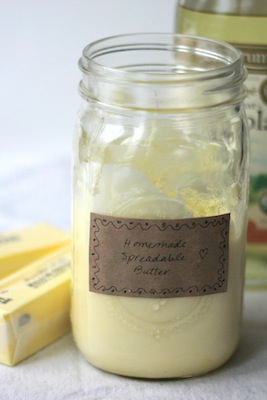 Recipe for Homemade Organic Spreadable Butter | OnePartSunshine.com