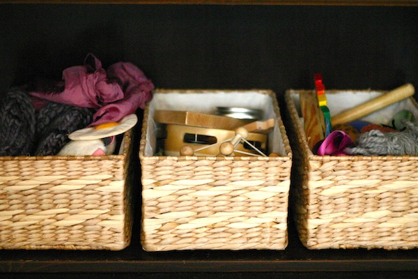 Heuristic Baby Play Treasure Baskets Using Natural and Found Objects | OnePartSunshine.com