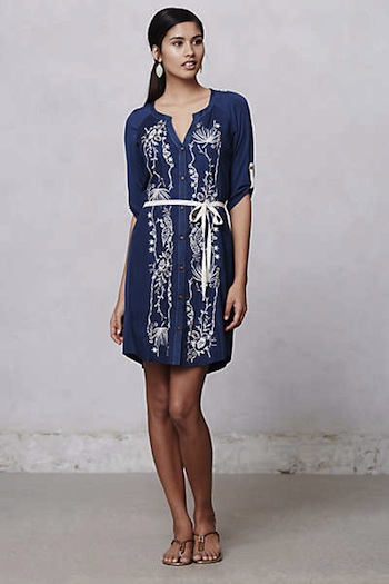 Nursing-friendly dresses | Bandana Panel Dress by Anthropologie